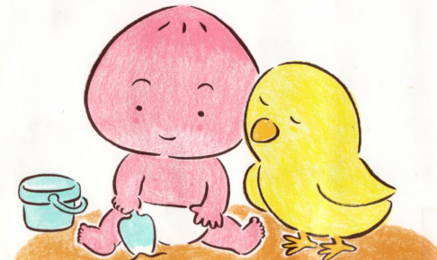 『すりすり ももんちゃん』とよたかずひこ作、童心社は親子のスキンシップにおすすめ