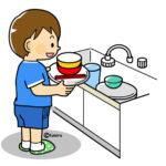 モンテッソーリ家庭知育 食器の片付け