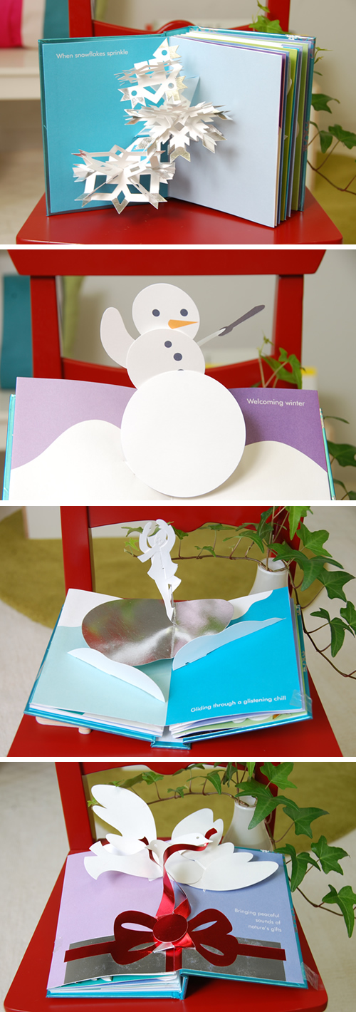 サブダの飛び出す仕掛け絵本『winter in white』ポップアップ2