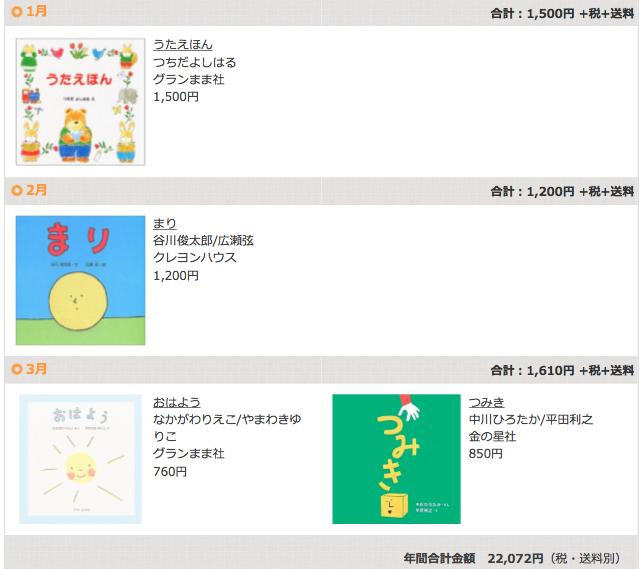 絵本の定期購読クレヨンハウスのブッククラブ0歳児コース1〜3月