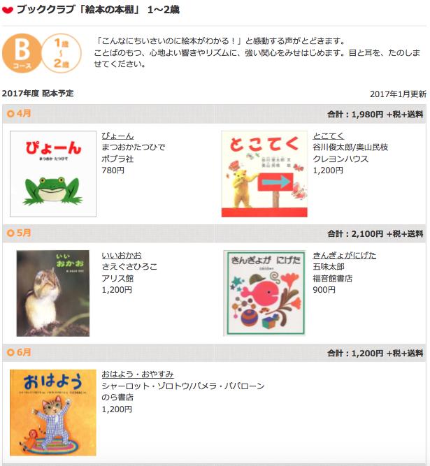 絵本の定期購読クレヨンハウスのブッククラブ1歳児コース4〜6月