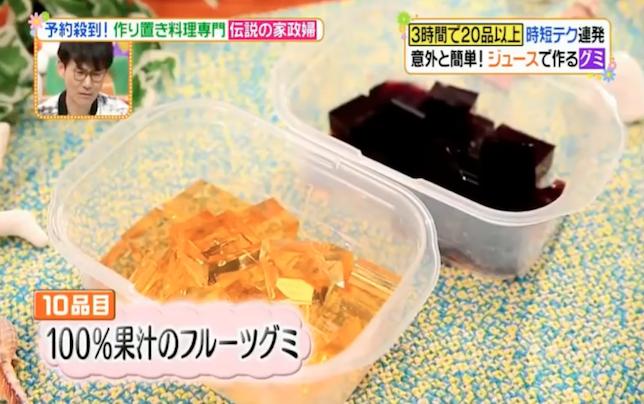 100%果汁ジュースのグミ