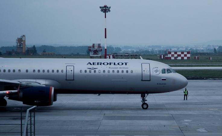 ロシアの航空会社での例