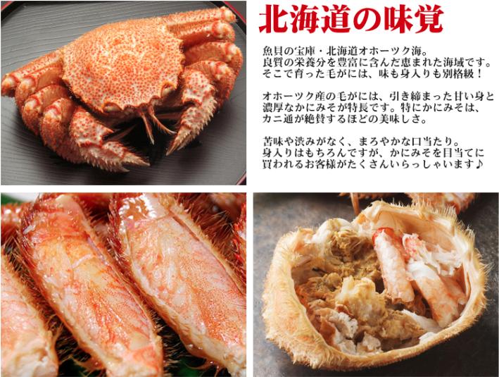 蟹通販 カニの浜海道 毛ガニ