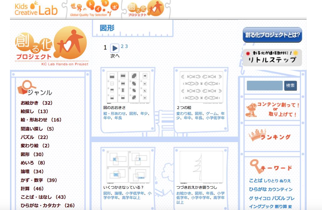 幼児の無料プリント教材 創る化プロジェクト